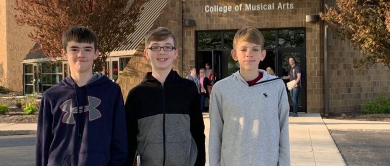 BGSU Honors Band Rehearsal