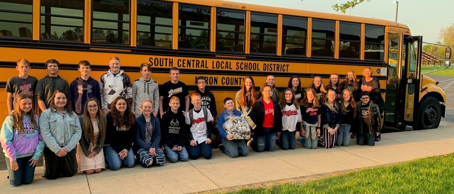 Bus with students